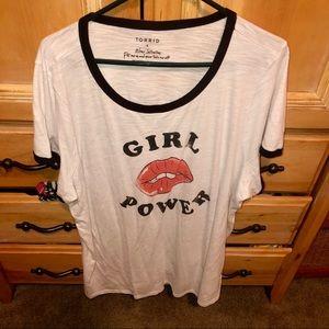 """""""Girl power"""" ringer tee"""